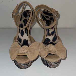 "Jessica Simpson 6"" Strappy Kitten Heels"